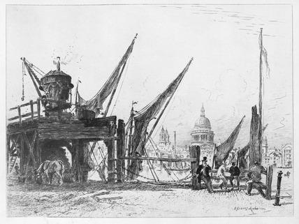 Wharf under St Paul's: 1880