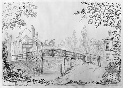 Wooden Bridge, Hammersmith: 1815