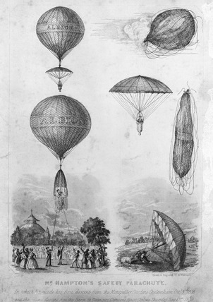Mr. Hampton's safety parachute: 1839