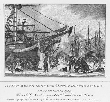 Thames from Rotherhithe Stairs: 1789