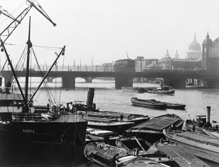 The 'Badenia' lying at Hibernia Wharves: 20th century