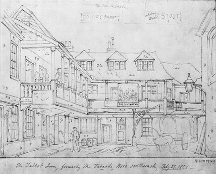 The Talbot Inn, formerly The Tabard, Southwark: 1856