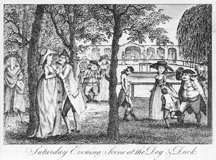 Saturday Evening Scene at the Dog & Duck: 18th century