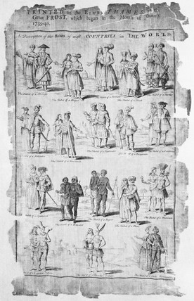 Commemorative printed silk panel: 18th century