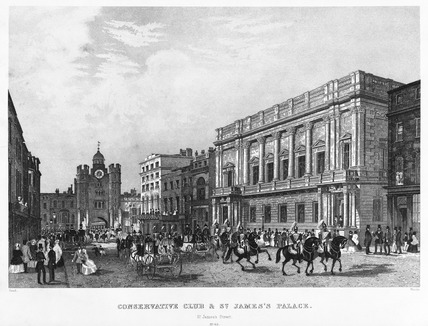 The Conservative Club and St. James's Palace: 19th century