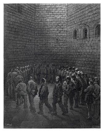 Newgate - exercise yard: 1872
