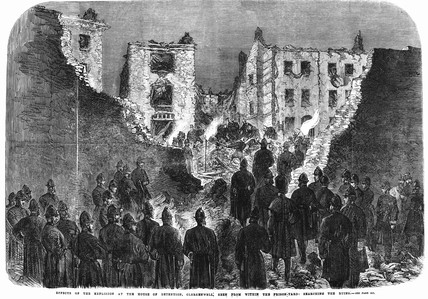 House of detention, Clerkenwell after an explosion: 1867