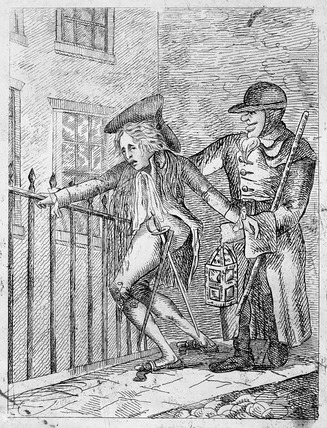 The Night Watchman, an Arrest: 19th century