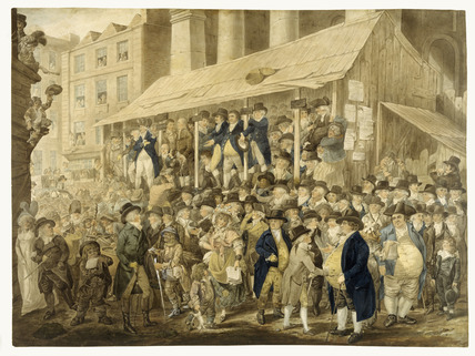 Westminster Election scene outside St. Paul's: 1796