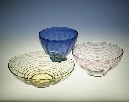 Selection of whitefriars glass bowls: 20th century