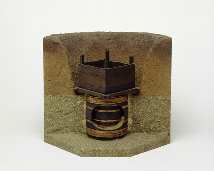 Model of a Roman well