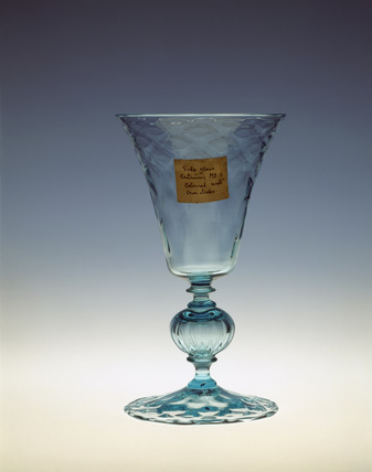 Goblet made in Alsatian Blue glass: 20th century
