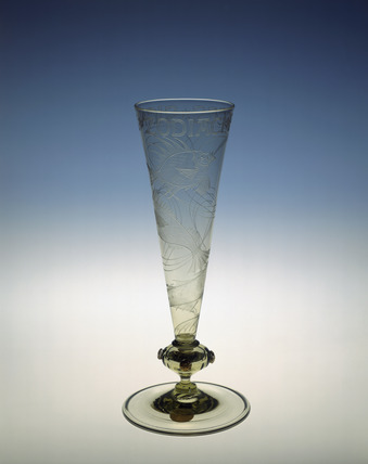 'Pisces' vase made in Sea Green glass: 1912