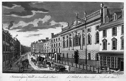 Ironmongers Hall in Fenchurch Street: 18th-19th century