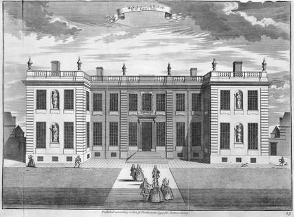 Marlborough House in St James's Park: 1754