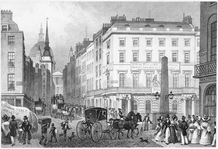 Ludgate Hill, from Fleet Street: 1830
