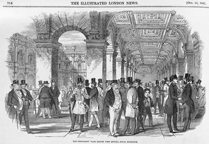 The Merchant's walk (south west angle) Royal Exchange: 1847