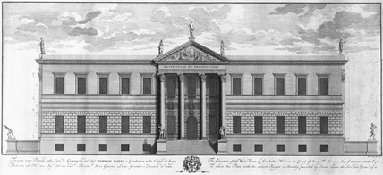 The Elevation of the West Front of Carshalton House in the County of Surry: 1728