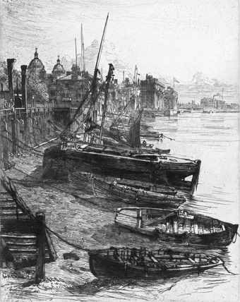 Greenwich waterfront: 1880
