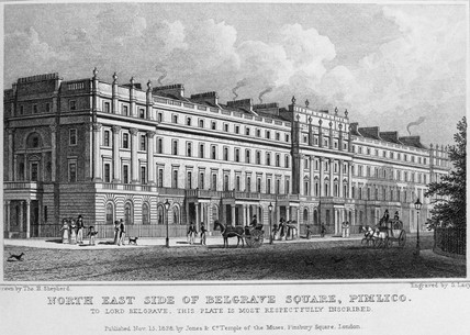 North East Side of Belgrave Square, Pimlico: 1828
