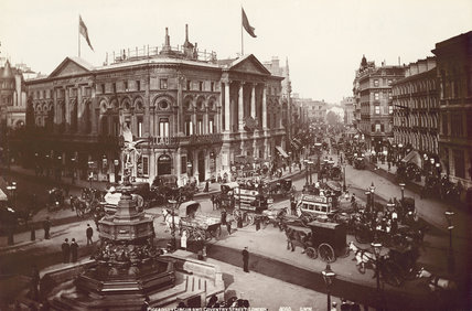 General perpective of Piccadilly Circus: 19th century