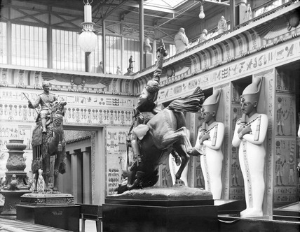 Egyptian court at Crystal palace: 19th century