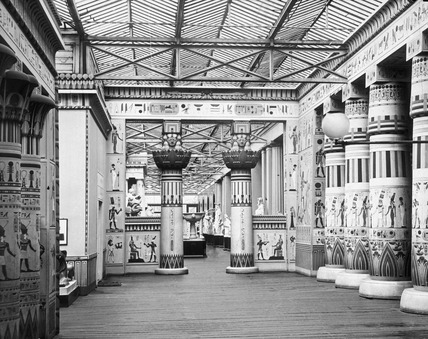 The Egyptian court at Crystal Palace: 19th century