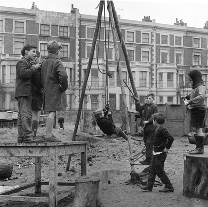 Children in an adventure playground, Notting Hill: 1960