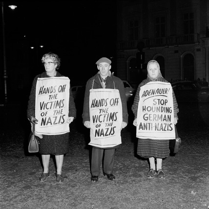 Protest against ex-Nazi General Speidel's visit to Britain: 1963