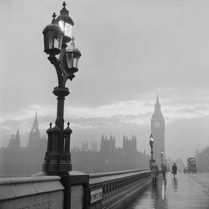 Westminster bridge and Houses of Parliament: 1962