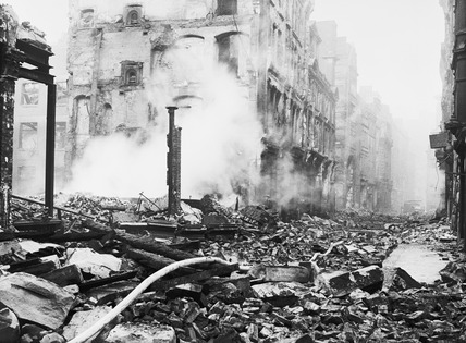 Bomb damage at Cheapside: 1940