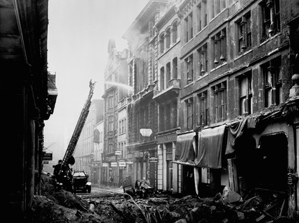 Bomb damage at the Old Bailey: 1941