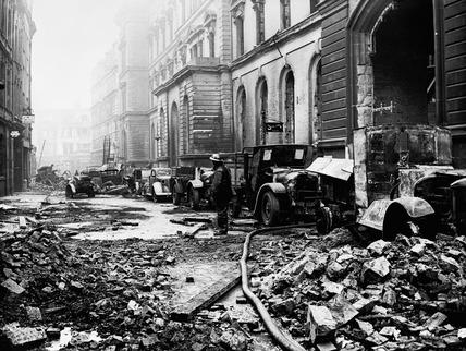 Bomb damage at the L.M.S. Goods Depot: 1940
