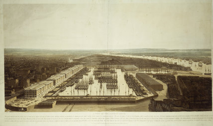 A View of the London Docks: 1808