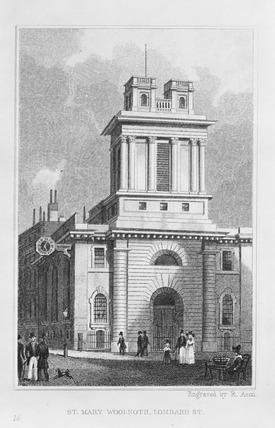 St. Mary Woolnoth, Lombard Street: 1830