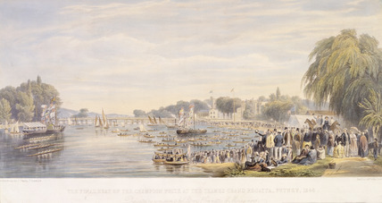 The Final Heat of the Champion Prize at the Thames Grand Regatta, Putney, 1848