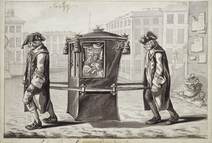 A sedan chair: 18th century