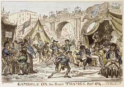 Gambols on the River Thames Feby. 1814