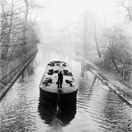 A Barge on a canal: 1955