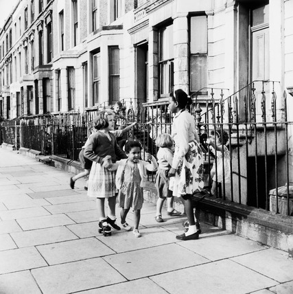 Children playing in the street: 20th century