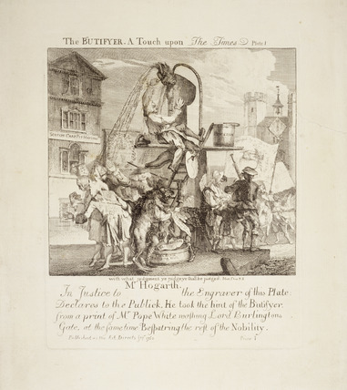 The Butifyer. A Touch upon The Times - Plate I: 1762