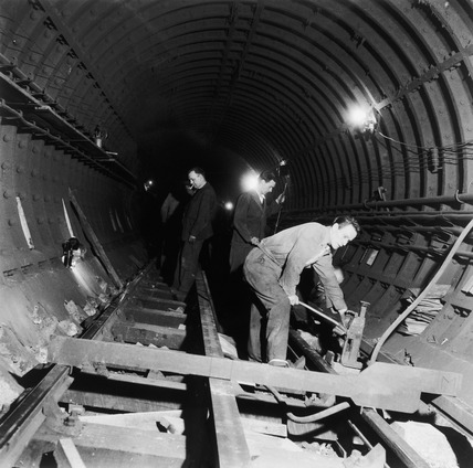 Repairing Tube Underground Lines: 1955