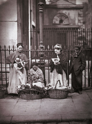 Covent Garden Flower Women: c.1877