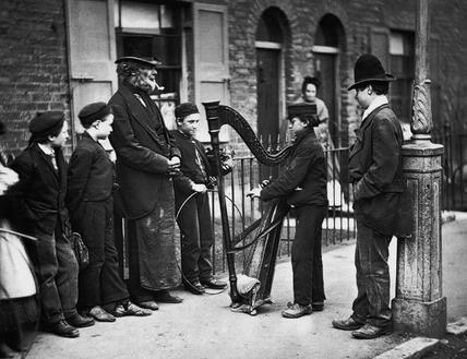 Italian Street Musicians: c.1877
