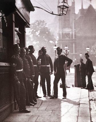 Recruiting Sergeants at Westminster: c.1877