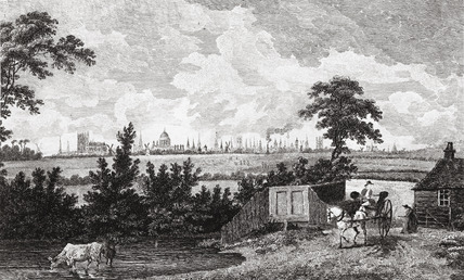 A view of London and Westminster from the Prince's Head, Battersea, Surrey: 18th century