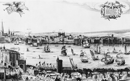 Right panel of Visscher's view of London: 1846