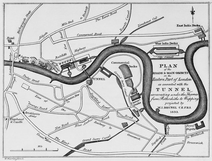 Thames Tunnel Plan: 1836