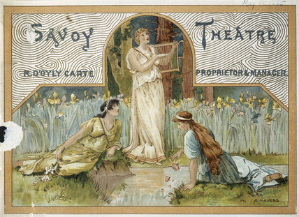 Insert of the programme for The Mikado at the Savoy Theatre: 1885