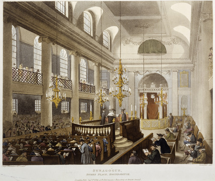 Synagogue, Dukes Place, Houndsditch (imprint): 1809